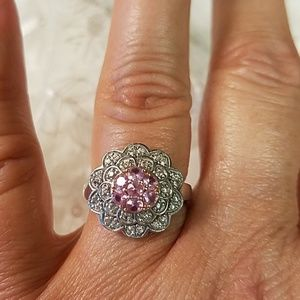 Jewelry - Sterling Silver Ring with Pink Sapphire